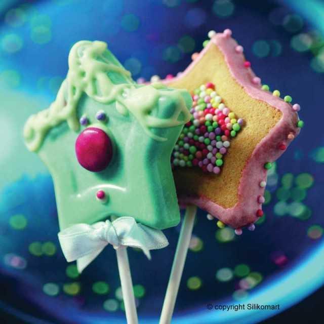 Moule étoile à cake pops ou sucettes en silicone Wonder Cakes