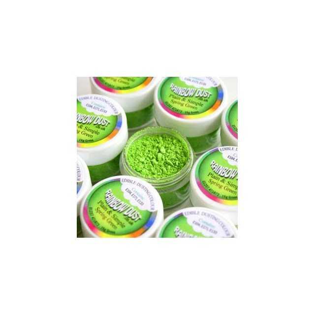 Colorant alimentaire poudre Spring Green Plain & Simple