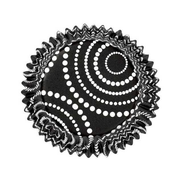 36 Caissettes cupcakes noir à pois