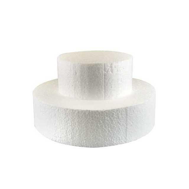 Support gateau polystyrene rond Ø 20 cm x H 7 cm