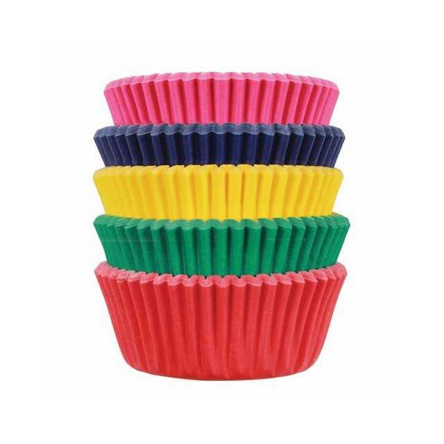 PME - 100 mini caissettes Carnaval - 5 couleurs
