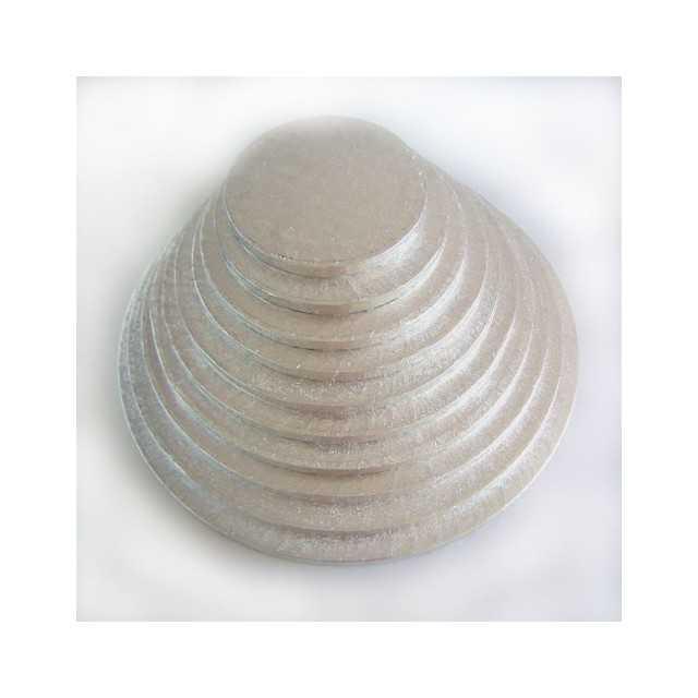 FunCakes - Présentoir à gateau rond argenté 30 cm
