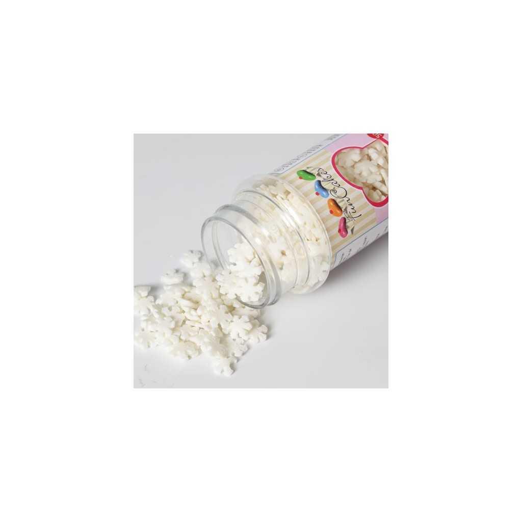 Décoration de gateau mini flocons de neige blancs - 50 gr