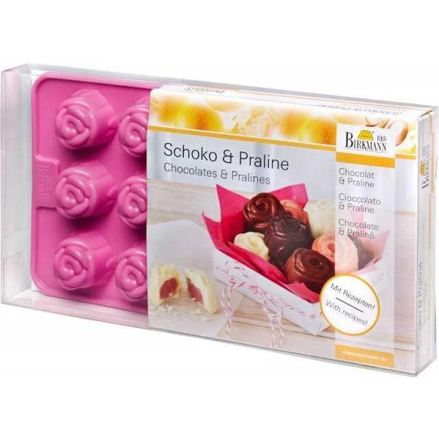 BRV Birkmann - Moule à chocolat roses en silicone