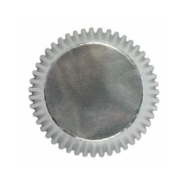 PME - 30 caissettes cupcakes argent