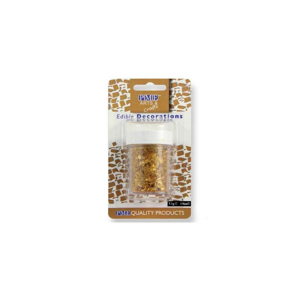 PME - Paillettes alimentaires dorées