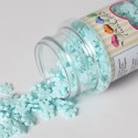 Flocons de neige en sucre bleu clair scintillant