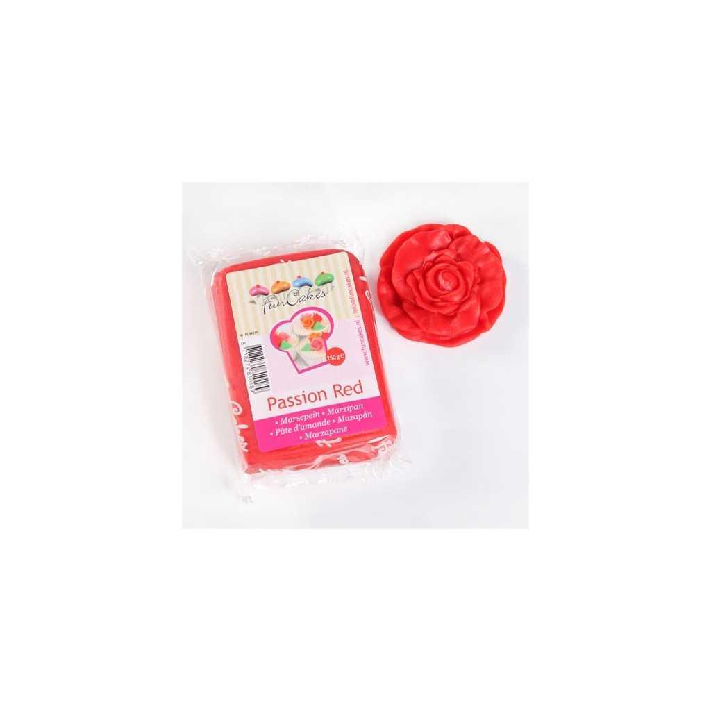 Pate d'amande rouge passion Funcakes 250 gr