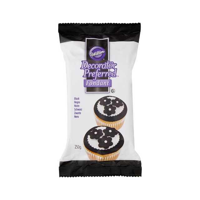 Wilton - Pate à sucre noir 250 gr