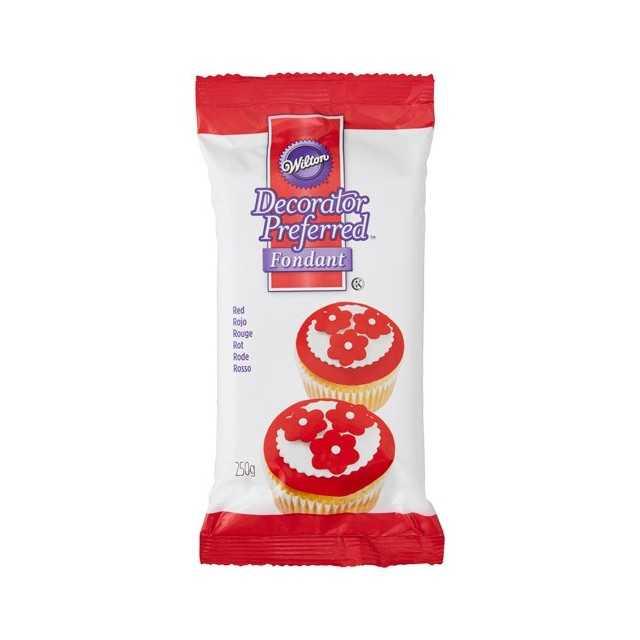 Wilton - Pate à sucre rouge 250 gr