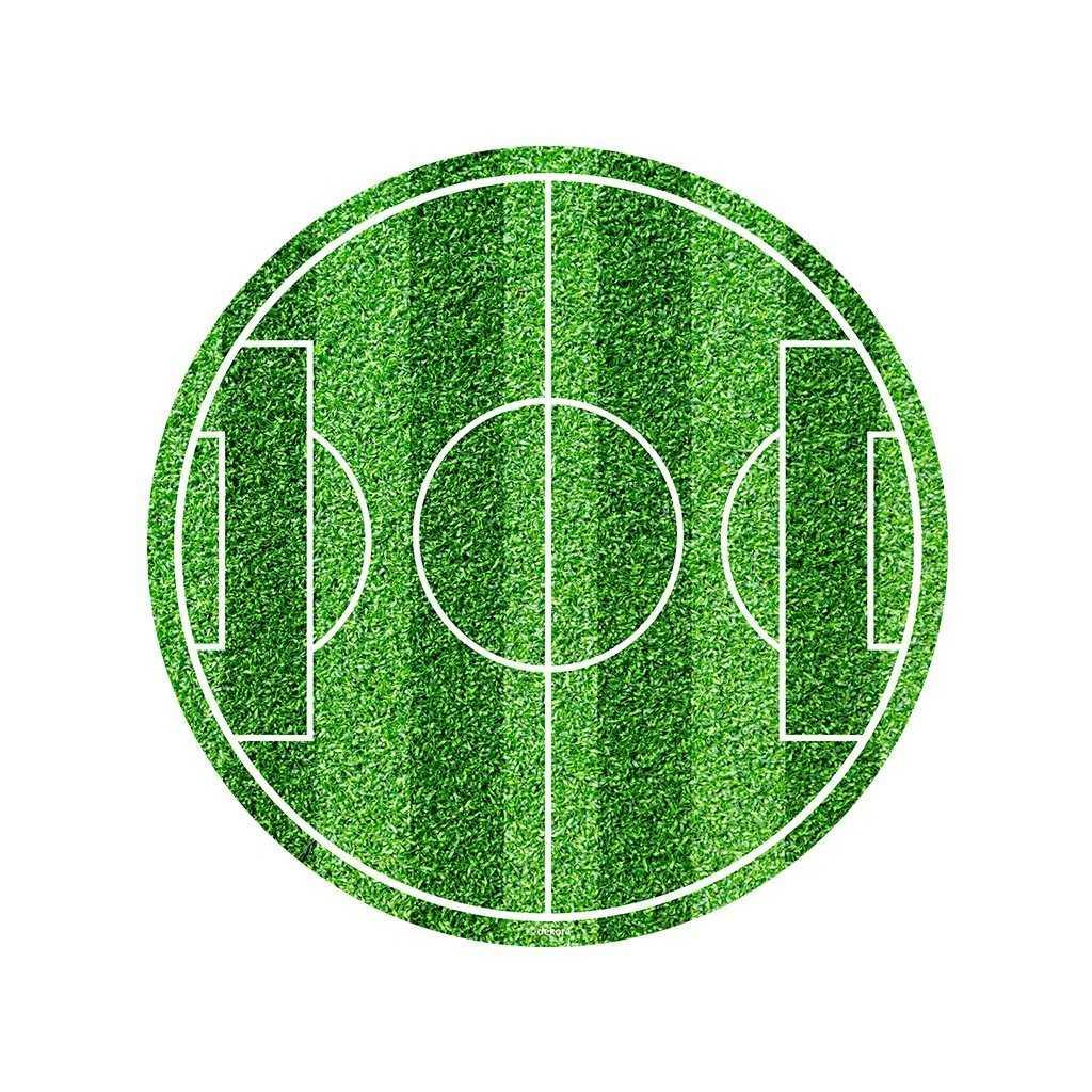Décor Terrain de foot en pate à sucre 20 x 30 cm