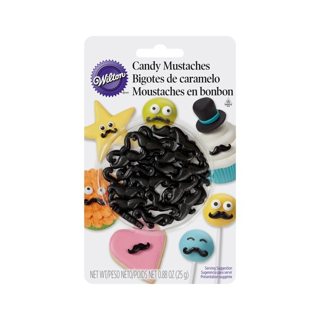 Wilton - Décoration gateau moustaches 2 cm