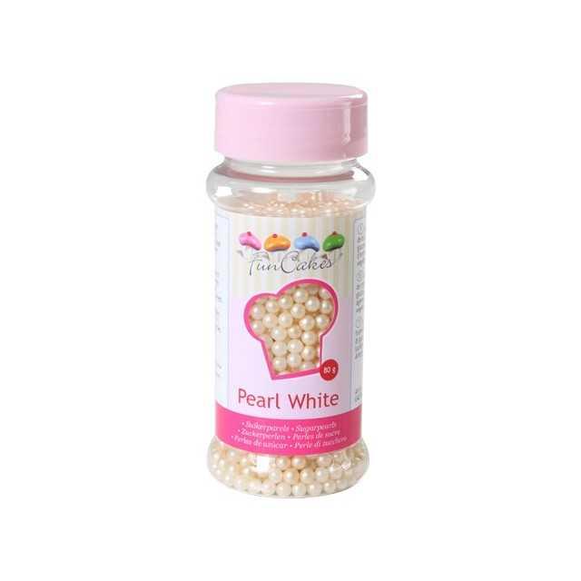 Perles de sucre blanc ivoire perle naturelle Funcakes 80 gr
