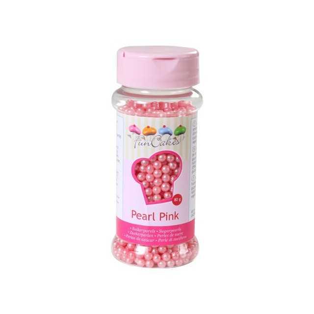 Perles de sucre rose Funcakes 80 gr