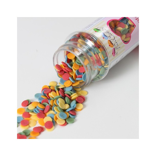 Confettis sucre multicolores Ø6 mm