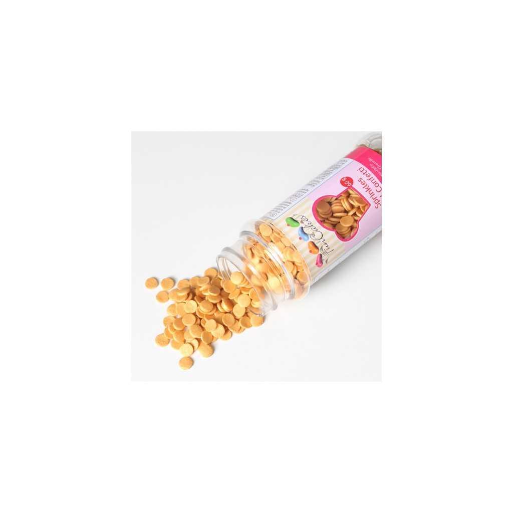 Confettis en sucre couleur Or Ø6 mm