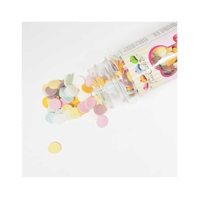 Confettis en sucre pastel XL -H10 mm
