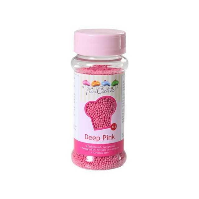Microbilles de sucre rose foncé Funcakes 80 gr