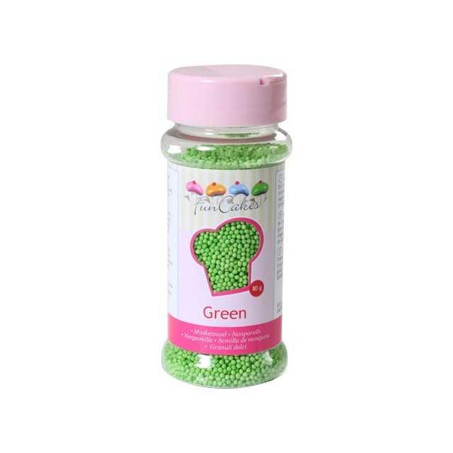 Microbilles de sucre vert Funcakes 80 gr