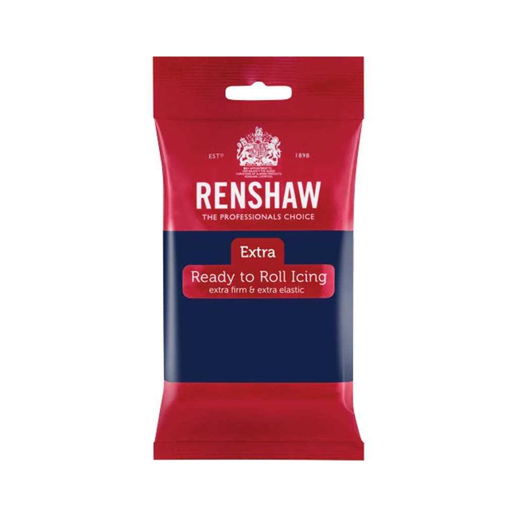 Pate à sucre Navy Blue Renshaw 250 gr (Bleu marine)