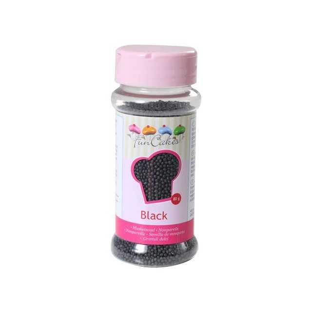 Microbilles de sucre noir Funcakes 80 gr