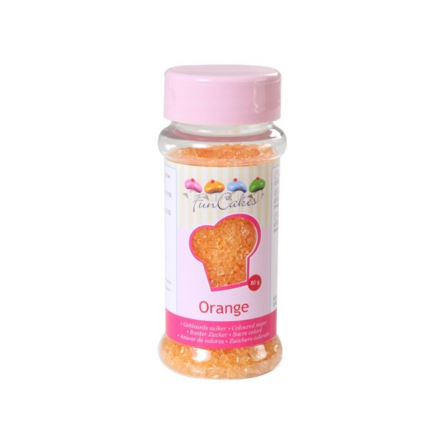 Sucre coloré orange Funcakes 80 gr
