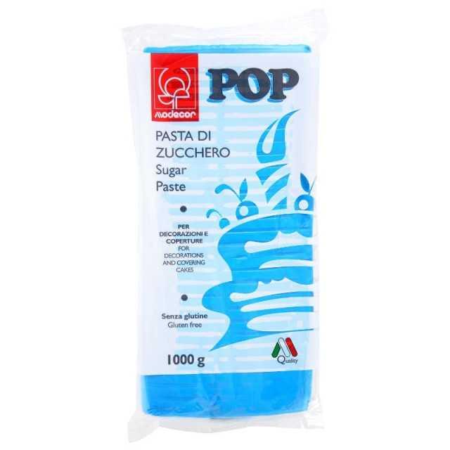 Pate a sucre bleu 1 kg Modecor