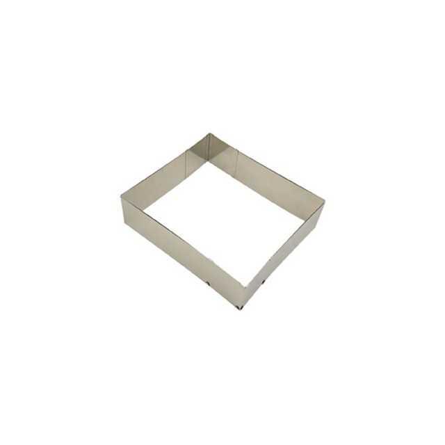 Câdre à pâtisserie extensible en inox - Moule carré ou rectangle