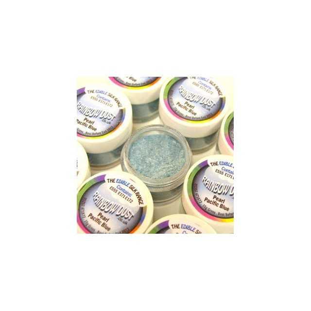 Colorant alimentaire en poudre Bleu Pearl pacific blue Edible Silk