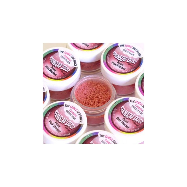 Colorant alimentaire en poudre Rose sorbet Edible Silk Rainbow Dust