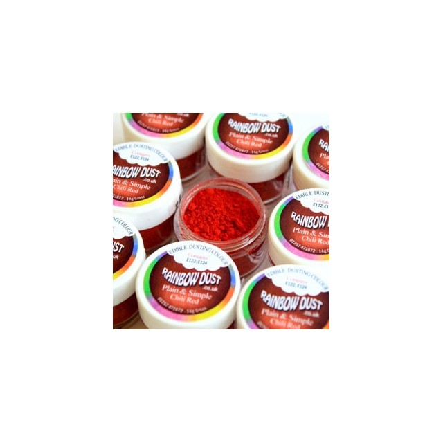 Colorant alimentaire poudre Chili Red Plain & Simple Red