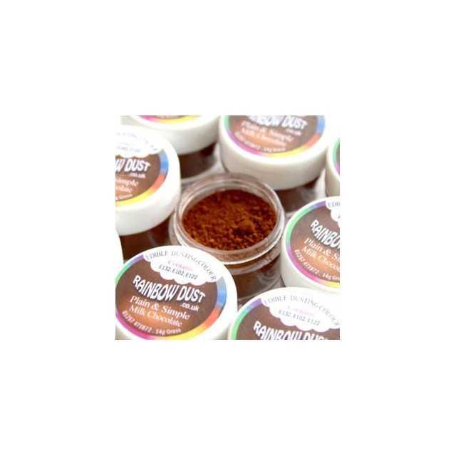 Colorant alimentaire poudre Milk Chocolate Plain & Simple Brown