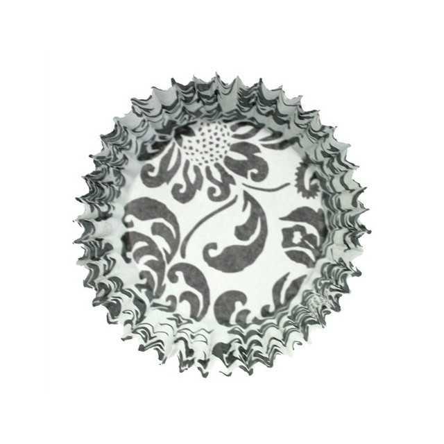 54 Caissettes cupcake Elegance Noir et blanc
