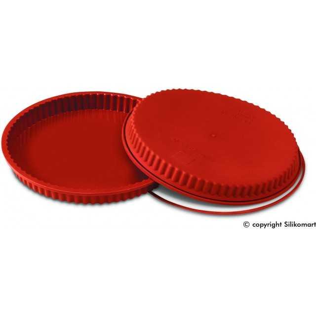 Moule à tarte ou quiche en silicone Silikomart 24 cm