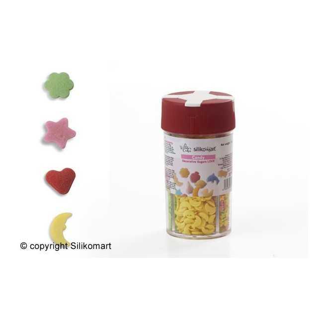 Boite distributrice de formes en sucre 4 séries love Wonder Cakes
