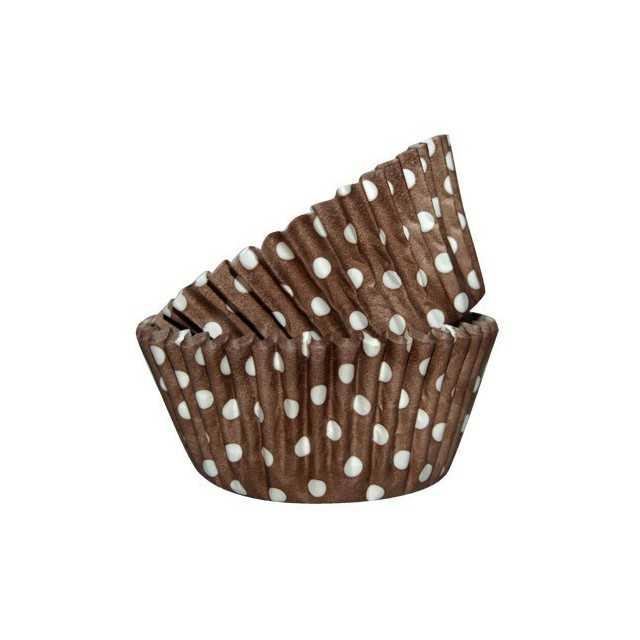 36 Caissettes Cupcake Pois chocolat Squires Kitchen