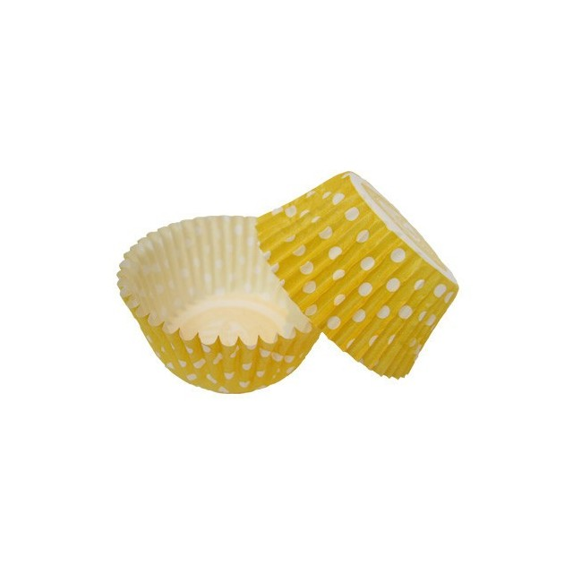 36 Caissettes Cupcake Pois jaune Squires Kitchen