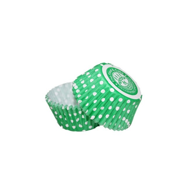 36 Caissettes Cupcake Pois vert Squires Kitchen