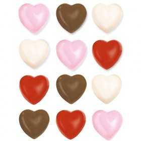 Moule à chocolat coeurs