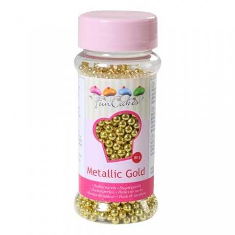 Perles de sucre or métalliques 80 gr