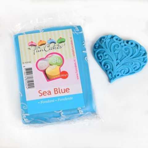 Pate à sucre bleu turquoise Funcakes 250 gr