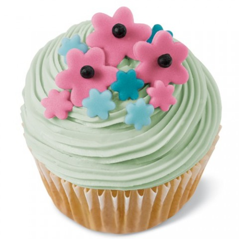 Emporte pièce mini fleurs et feuille pate a sucre