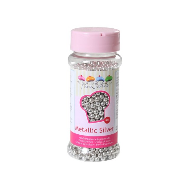 Perles de sucre argent