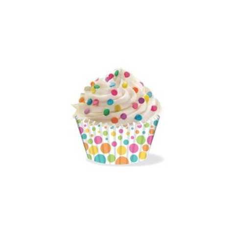 Wilton - 36 caissettes cupcakes pois couleurs