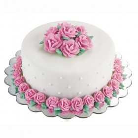 8 présentoirs 30 cm argent pour gateau ou cupcakes