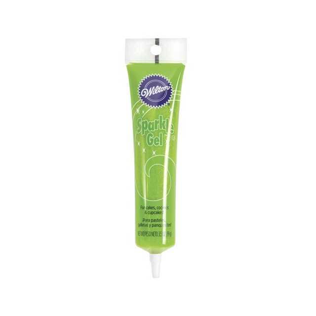 Wilton - Gel paillettes alimentaire vert clair - 100 gr