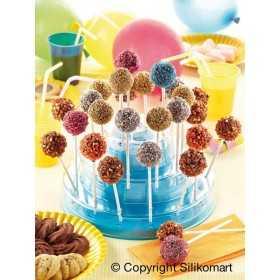 Silikomart - Presentoir à cake pops & sucettes - bleu