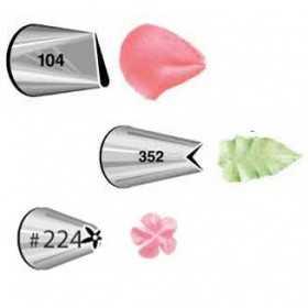 Kit 3 douilles pétal 104. feuille 352. fleur 224