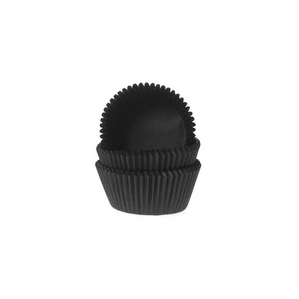 HoM - 60 mini caissettes cupcakes noir