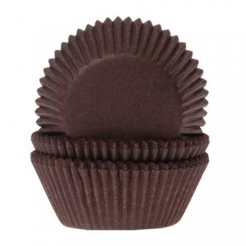 HoM - 60 mini caissettes cupcakes chocolat